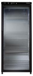 Холодильный шкаф для хранения вина, стеклянная дверь, черный, 400 л