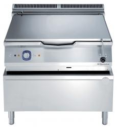 Сковорода тигельная газовая (дно из низкоуглеродистой стали), 100 л, автоматическое опрокидывание