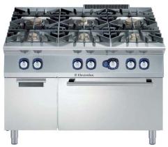 Плита газовая, 6 конфорок, с газовой духовкой (8,5 кВт)