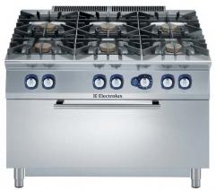 Плита газовая, 6 конфорок, с газовой духовкой (12,5 кВт)