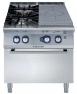 Плита газовая концентрического нагрева + 2 конфорки + газовая духовка, 800 мм
