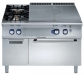 Плита газовая концентрического нагрева + 2 конфорки + газовая духовка, 1200 мм